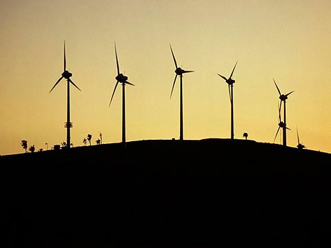 christchurch photographer photograph of wind turbines in sunset by murray irwin